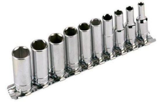 """Picture of BLPLSM14SET10Y-WO - 1/4"""" 6Pt Deep Socket Set 5-14mm; 10Pc - Metric"""