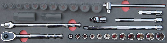 """Picture of MOD.139SH45SMWD - 3/8"""" General Service Set (12Pt Williams Sockets); 19Pc - Metric"""
