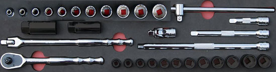 """Picture of MOD.139SH45SFWD - 3/8"""" General Service Set (12Pt Williams Sockets); 18Pc - Imperial"""