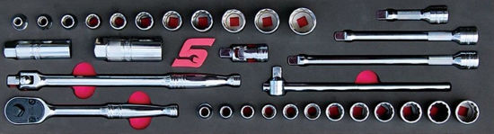 """Picture of MOD.150SH45SC-X - 3/8"""" General Service Set with FDX Sockets; 32Pc - Metric and Imperial"""