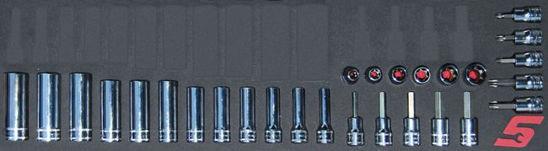 "Picture of MOD.151SH45SM-X - 3/8"" Torx and FDX Deep Socket Set; 28Pc - Metric"