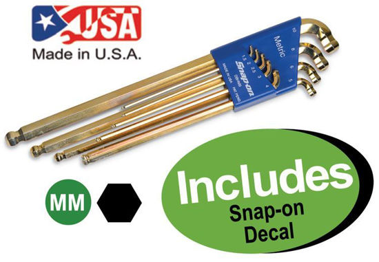 Picture of XXFEB116 Double-End Ball Hex Key Set Metric Includes Decal