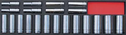 "Picture of MOD.240SH45S-H - 1/2"" Deep 6Pt Socket Set 10-32mm; 21pc - Metric"