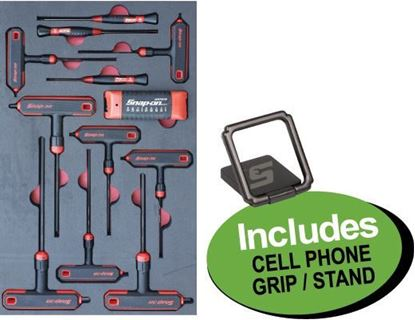 Picture of XXJUN104 Hex Allen Key Set in Foam Includes Cell Phone Grip / Stand