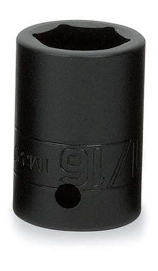 """Picture of IM380 - 1/2"""" Shallow Impact Socket 6Pt 1-3/16"""""""