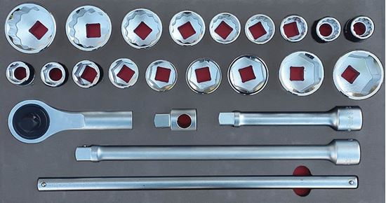 """Picture of MOD.758SH45LC - 3/4"""" General Service Set; 23Pc - Metric & Imperial"""
