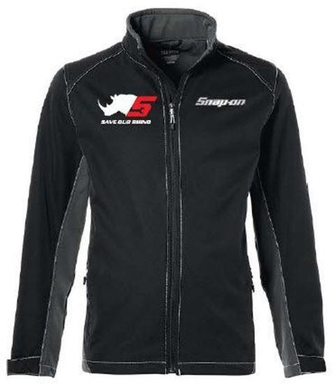Picture of JACKETRNOSO-4X - Jacket Iberico Men Black Rhino Logo - 4XLarge