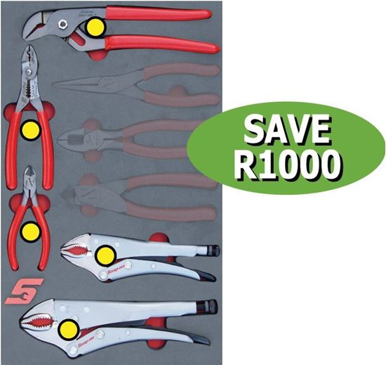 Picture of XXJUN121 5pc Plier Add-on option: Complete the 8pc Set in foam