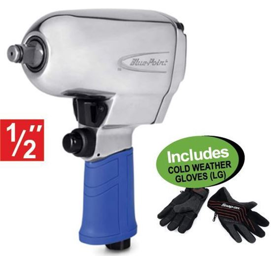 """Picture of XXJUN125 1/2"""" Drv Tight Access Impact Gun Includes COLD WEATHER GLOVES (LG)"""