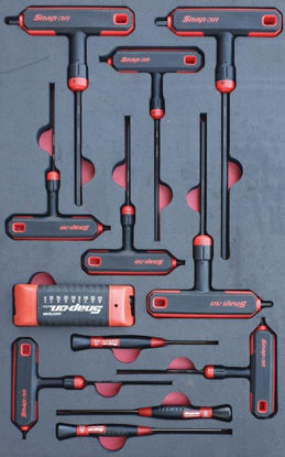 Picture of MOD.198SH42D-B - T & L Shape Ball Hex Wrench Allen Key Set; 20Pc - Imperial