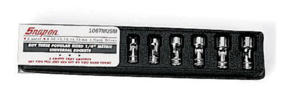 """Picture of 106TMUSMA - 1/4"""" Drive 6-Point Flank Drive® Shallow Universal Socket Set 8-15mm - 6Pc"""