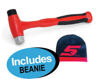 Picture of XXJUL111 450g Hammer with  replaceable plastic tips includes Beanie
