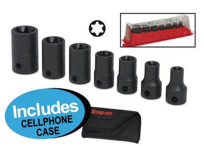 "Picture of XXJUL103 3/8"" TORX (E8 - E20)  Impact Socket Set Includes Cellphone Case"