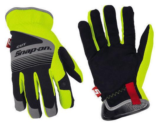 Picture of GLOVE506L - Snap-on® Cut-Resistant Gloves - Hi-Viz - Large