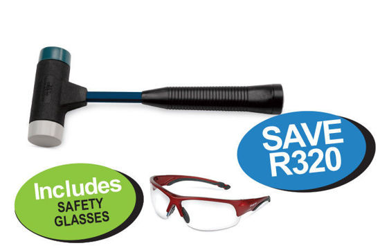 Picture of XXOCT120 Softface Combination Deadblow hammer 900g Includes Safety Glasses