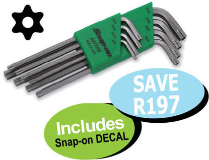 Picture of XXSEP116 TORX Tamper Proof L-Shaped Set (8pc) Includes Snap-on Decal