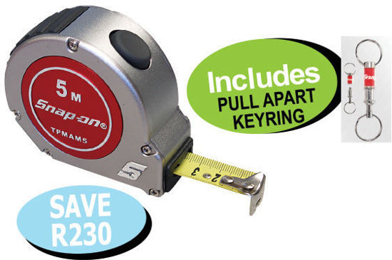 Picture of XXOCT121 Tape Measure  (5metre) Includes PULL APART KEYRING