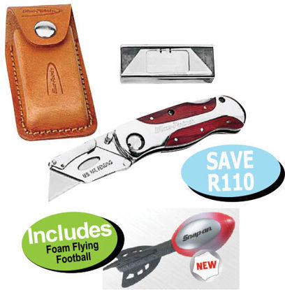 Picture of XXOCT118 Lock-Back Utility Knife Includes Foam Flying  Football
