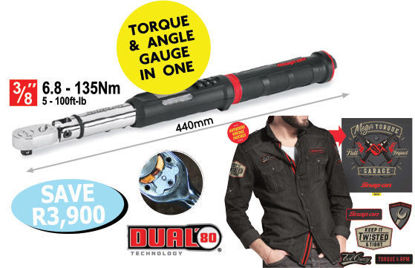 """Picture of XXOCT107 3/8"""" TechAngle Torque Wrenches includes Long Sleeve """"Oil Can"""" Shirt 2XL"""