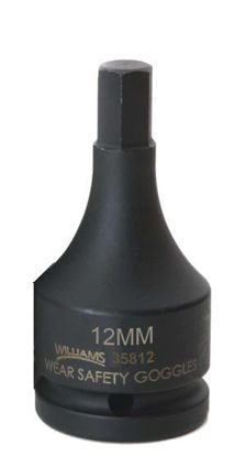"""Picture of WIL35812 - 3/4"""" Impact Hex Bit Socket 12mm"""