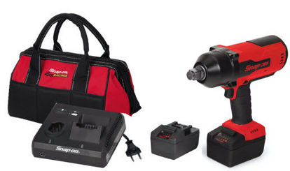 """Picture of CT9100U2-WO - 18V 3/4"""" Drive MonsterLithium Brushless Cordless Impact Wrench Kit with 2 x Batteries (Red)"""
